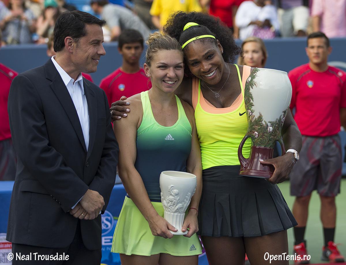 Simona Halep versus Serena Williams - finala de la Cincinnati