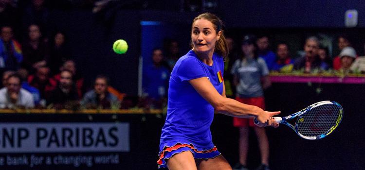 Imagini de la meciul Monica Niculescu - Yanina Wickmayer