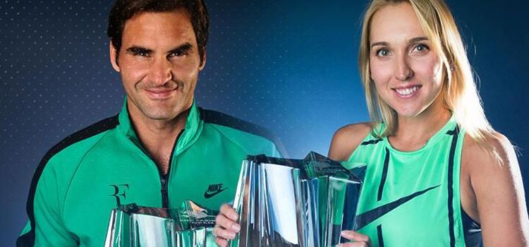 Federer şi Vesnina s-au impus la Indian Wells
