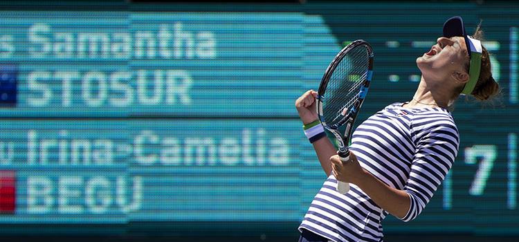 Irina-Camelia Begu joacă azi în sferturi la Charleston