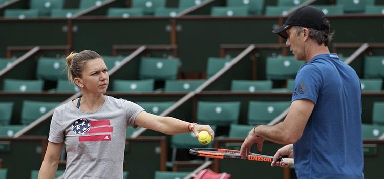 Imagini de la antrenamentul de azi al Simonei Halep la Roland Garros