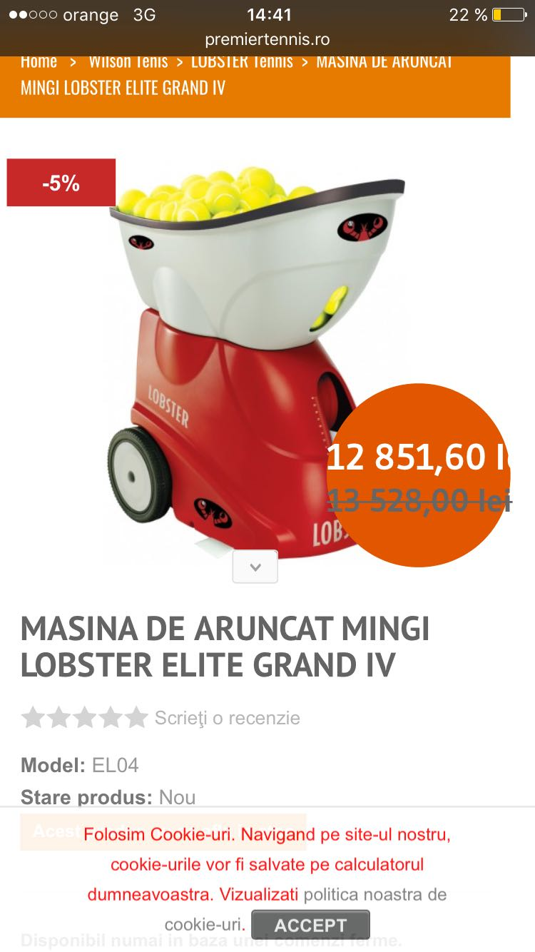 Vand tun de mingi LOBSTER ELITE GRAND 4