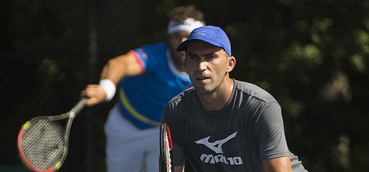 Imagini de la antrenamentul lui HORIA TECĂU şi al lui Jean-Julien Rojer la Citi Open