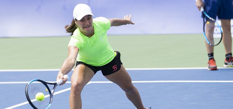 Imagini de la antrenamentul Monicăi Niculescu la Citi Open