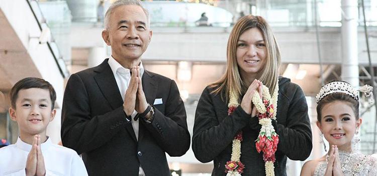 Simona Halep a ajuns în Thailanda pentru turneul demonstrativ