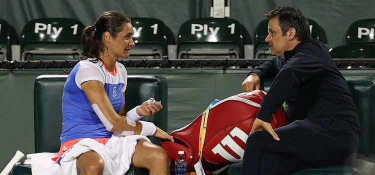 Imagini de la meciul Monica Niculescu - Sloane A Stephens din turul 3 la Miami Open