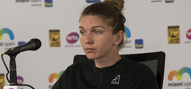Imagini de la meciul SIMONA HALEP - Agnieszka Radwańska din turul 3 la Miami Open
