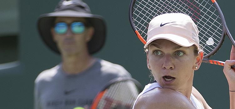 Imagini de la antrenamentul Simonei Halep şi al Irinei-Camelia Begu la Miami Open