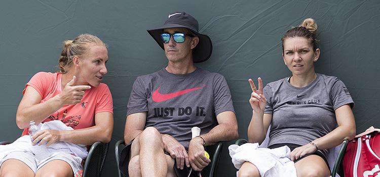 Imagini de la antrenamentul de miercuri al Simonei Halep la Miami Open