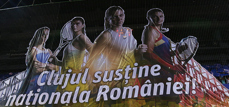 Imagini de la ceremonia de deschidere a meciului România - Elveţia