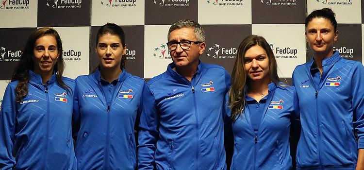 Imagini de la conferinţa de presă susţinută miercuri de echipa României