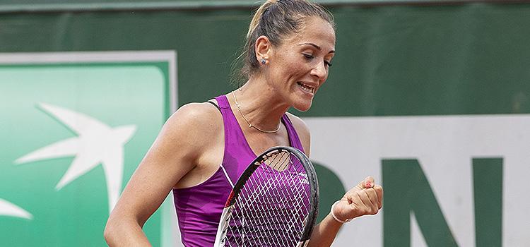 Imagini de la meciul Alexandra Cadantu - Maryna Zanevska din primul tur al calificărilor pentru Roland Garros