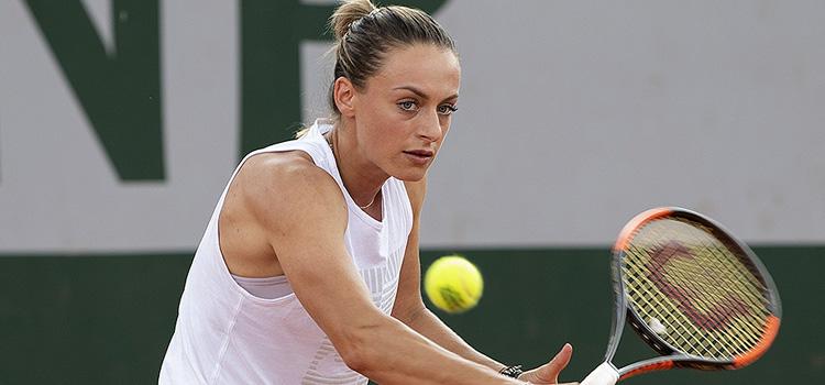 Imagini de la antrenamentul de vineri al Anei Bogdan la Roland Garros