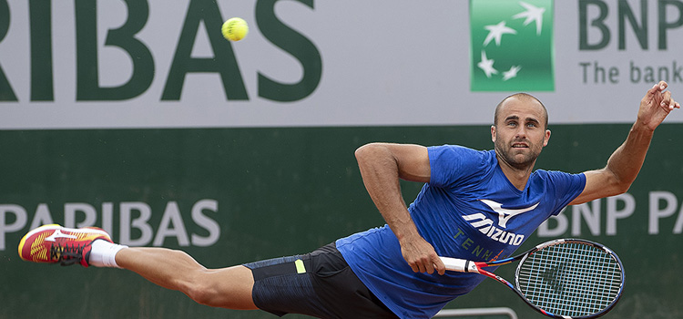 Imagini de la antrenamentul de sâmbătă al lui Marius Copil la Roland Garros