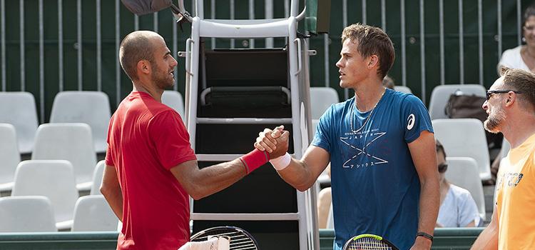 Imagini de la antrenamentul de duminică la Roland Garros al lui Marius Copil cu Vasek Pospisil