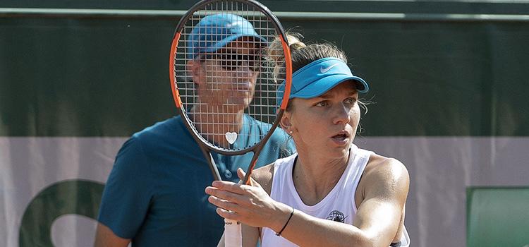 Imagini de la antrenamentul de duminică al Simonei Halep la Roland Garros