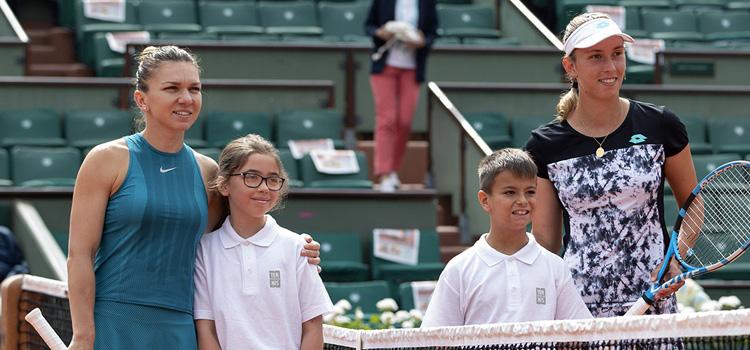 Imagini de la meciul Simona Halep - Elise Mertens din optimi la Roland Garros