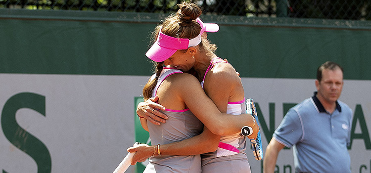 Imagini de la meciul Bara, Buzărnescu - Mattek-Sands, Chan din turul 2 la Roland Garros
