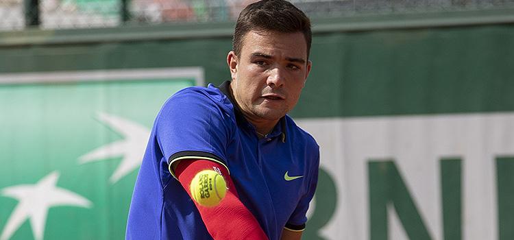 Imagini de la meciul Stefan Palosi - Jiri Lehecka din primul tur al juniorilor la RG