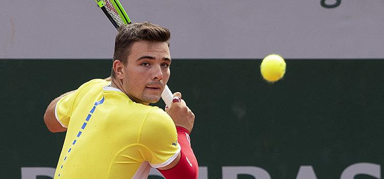 Imagini de la meciul Stefan Palosi - Sebastian Korda din turul 2 al juniorilor la RG