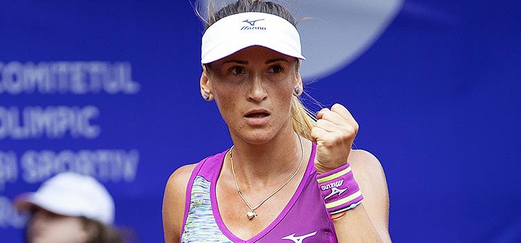 Imagini de la meciul Alexandra Cadantu - Elena Rybarkina din turul 2 al calificărilor la BRD Bucharest Open