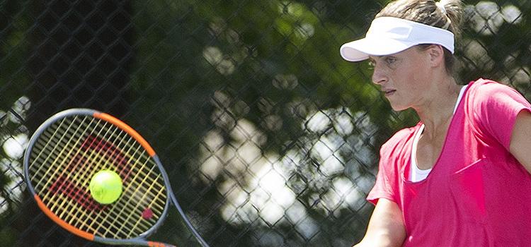 Imagini de la antrenamentul Anei Bogdan la Citi Open