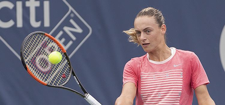 Imagini de la antrenamentul de luni al Anei Bogdan la Citi Open