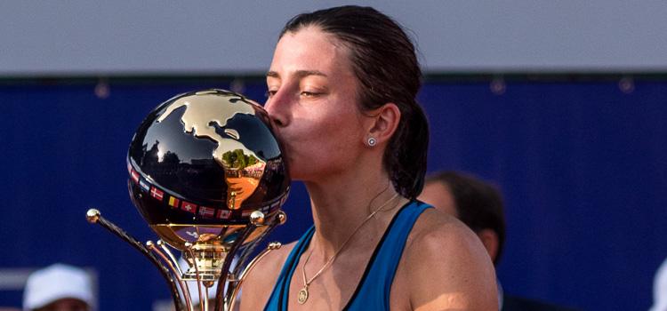 Imagini de la meciul Anastasija Sevastova - Petra Martić, finala de simplu la BRD Bucharest Open