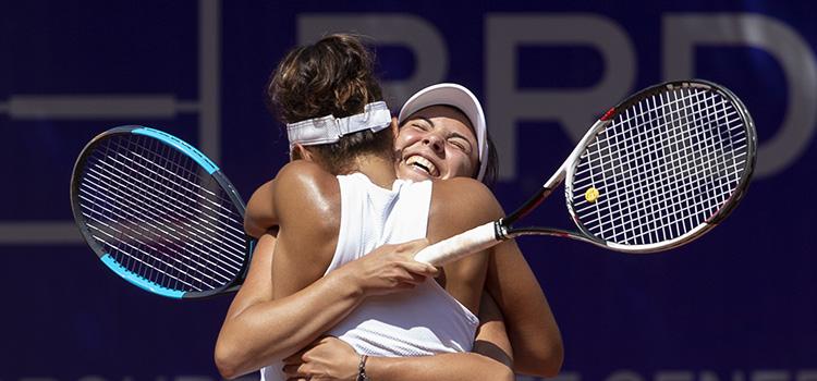 Imagini de la meciul Jaqueline Adina Cristian, Elena Gabriela Ruse - Monique Adamczak, Jessica Moore din turul 2 la BRD Bucharest Open