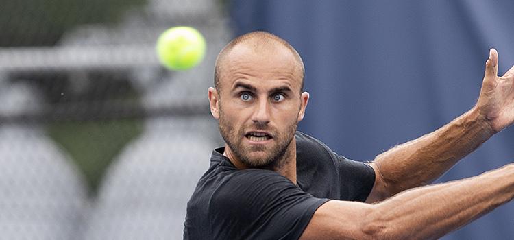 Imagini de la antrenamentul de luni al lui Marius Copil la Citi Open