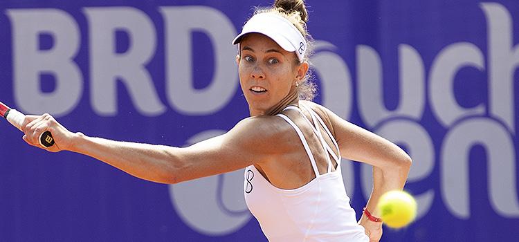Imagini de la meciul Mihaela Buzarnescu - Danka Kovinic din turul 1 la BRD Bucharest Open