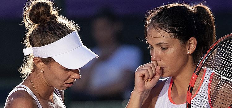 Imagini de la meciul Mihaela Buzarnescu, Raluca Ioana Olaru - Danka Kovinic, Maryna Zanevska din semifinale la BRD Bucharest Open