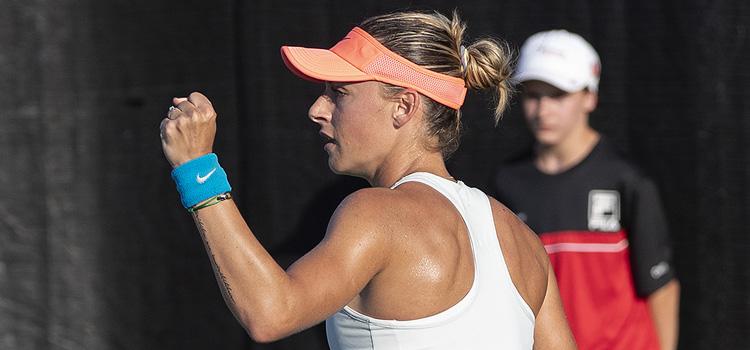 Imagini de la meciul Ana Bogdan - Magdalena Frech din primul tur al calificărilor la Rogers Cup, Montreal