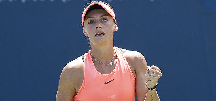Imagini de la meciul Ana Bogdan - Donna Vekić din turul 2 alcalificărilor pentru turneul de la Cincinnati
