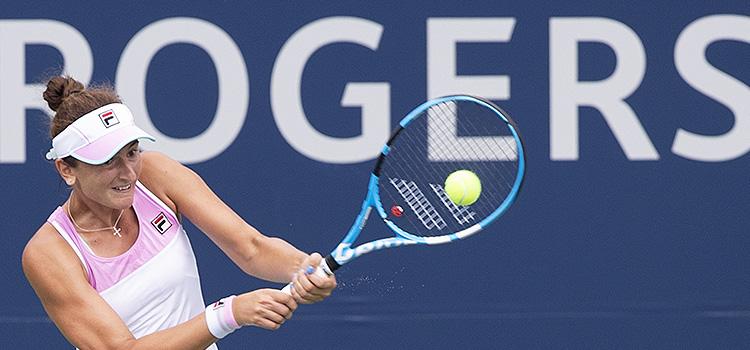 Imagini de la meciul Irina-Camelia Begu - Ashleigh Barty din primul tur la Rogers Cup, Montreal