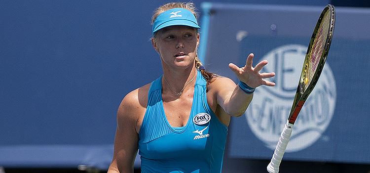 Imagini de la semifinala Kiki Bertens - Petra Kvitová de la Cincinnati