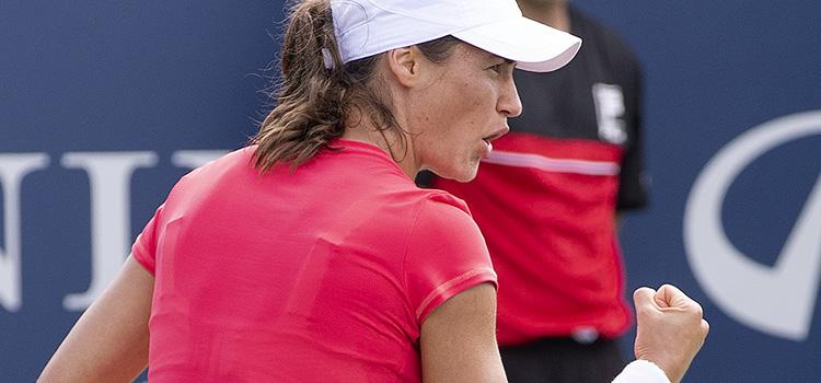 Imagini de la meciul Monica Niculescu - Ekaterina Alexandrova din primul tur al calificărilor la Rogers Cup, Montreal