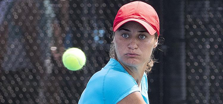 Imagini de la antrenamentul de luni al Monicăi Niculescu la Rogers Cup