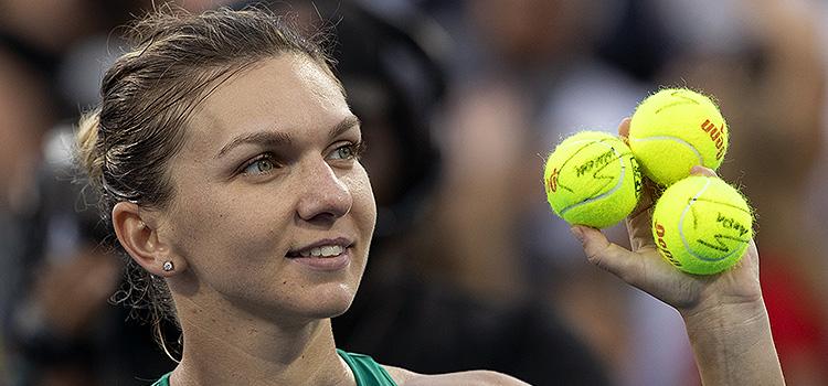 Imagini de la meciul Simona Halep - Lesya Tsurenko din sferturi de la Cincinnati
