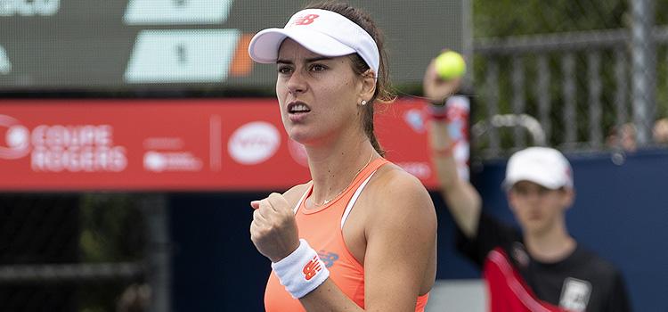 Imagini de la meciul Sorana-Mihaela Cîrstea - Monica Niculescu din primul tur al calificărilor la Rogers Cup, Montreal