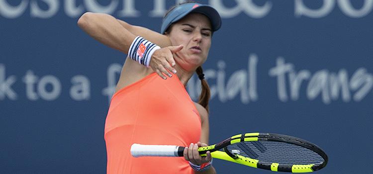 Imagini de la meciul Sorana-Mihaela Cirstea - Ajla Tomljanović din turul 2 alcalificărilor pentru turneul de la Cincinnati