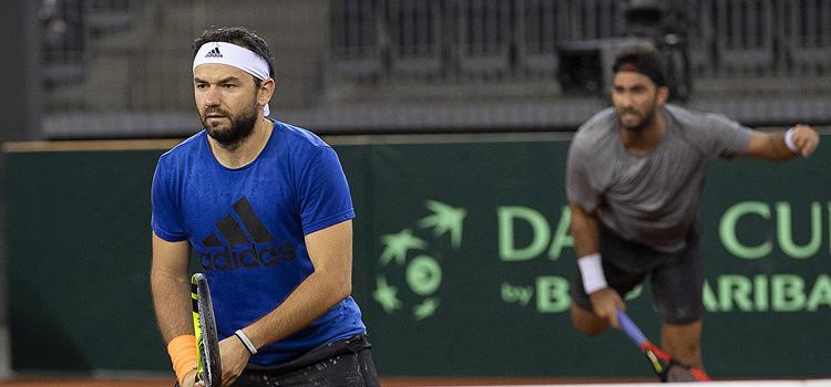 Imagini de la antrenamentul de vineri al echipei României de Cupa Davis
