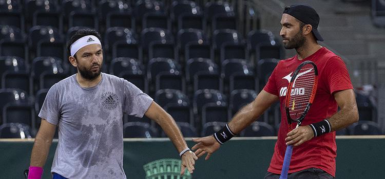 Imagini de la antrenamentul de joi al echipei României de Cupa Davis (2)