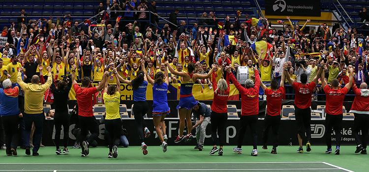 Imagini de la meciul Barbora Krejcikova, Katerina Siniakova - Irina-Camelia Begu, Monica Niculescu