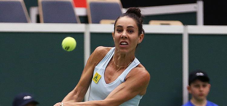 Imagini de la meciul Karolina Pliskova - Mihaela Buzărnescu