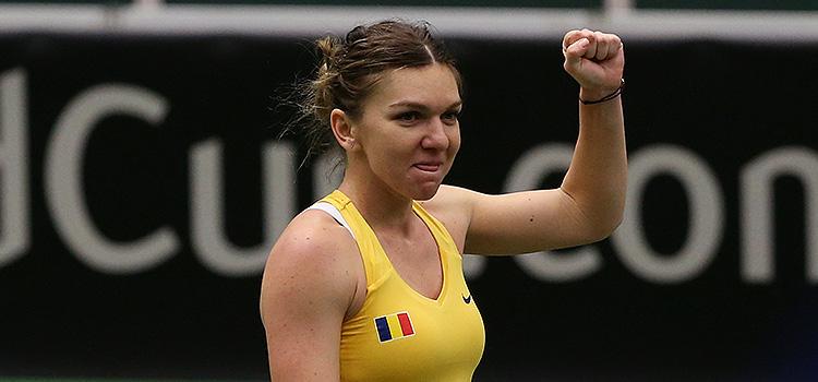 Imagini de la meciul Karolína Plíšková - Simona Halep