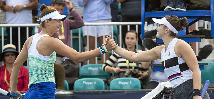 Imagini de la meciul Irina-Camelia Begu - Bianca Vanessa Andreescu din turul 1 la Miami