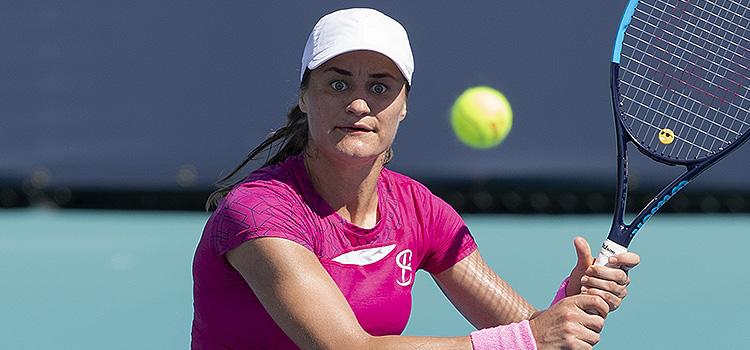 Imagini de la meciul Monica Niculescu - Kateryna Kozlova din turul 2 al calificărilor la Miami