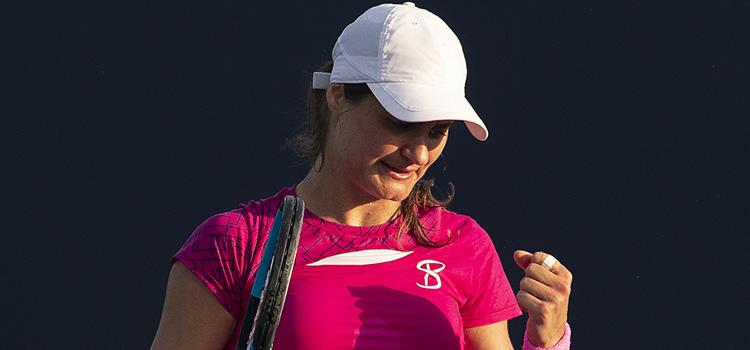 Imagini de la meciul Monica Niculescu - Tamara Zisansek din turul 1 la Miami