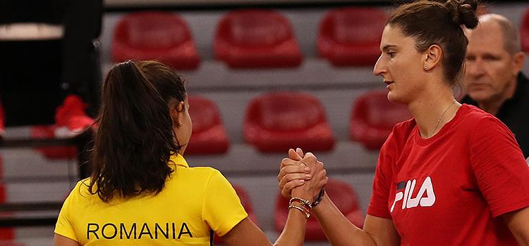 Imagini de la antrenamentul de vineri al Irinei-Camelia Begu şi Mihaelei Buzărnescu la Rouen